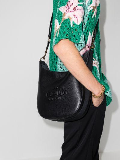 Black Identity leather shoulder bag