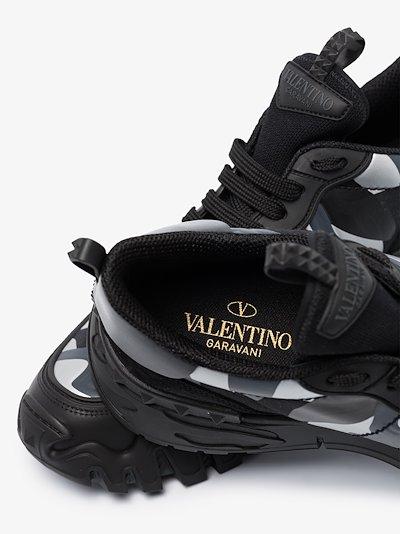 black Rockrunner leather sneakers