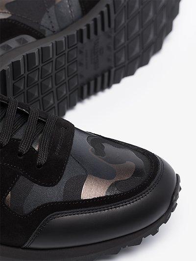 Black Rockrunner metallic camouflage sneakers