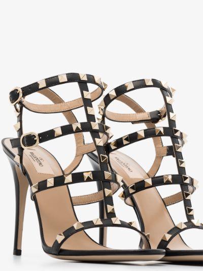 black Rockstud 105 leather sandals