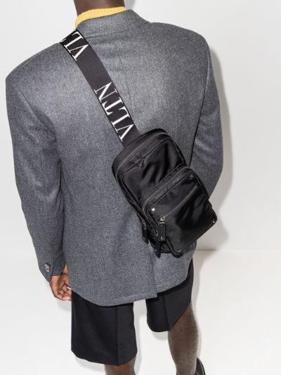 black Rockstud cross body bag