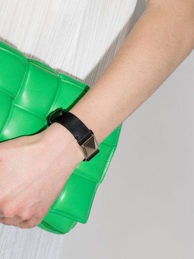 Black stud leather bracelet