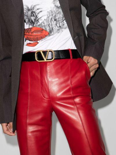 black VLOGO classic leather belt