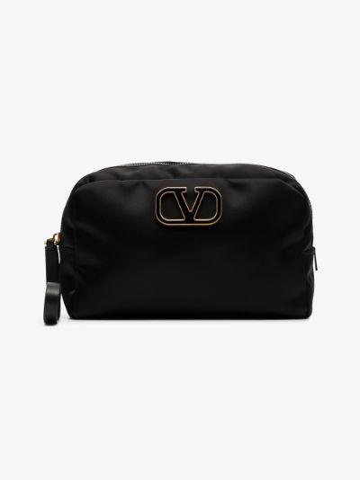 black VLOGO makeup bag