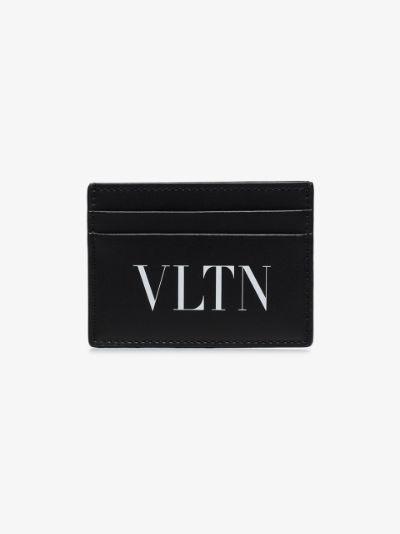 black VLTN logo card holder