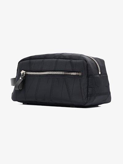 black VLTN Times wash bag