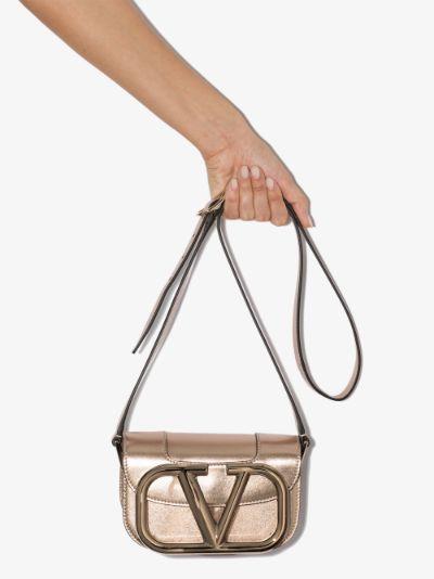 Gold SUPERVEE small leather shoulder bag