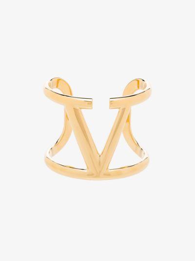 gold tone VLOGO Signature bracelet