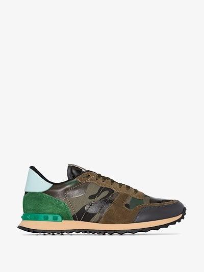 green Rockrunner Camouflage sneakers
