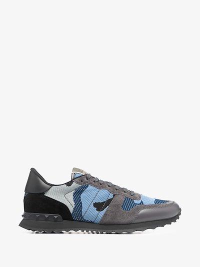 Grey Rockrunner Camouflage Sneakers