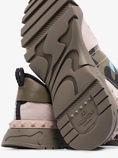khaki Rockrunner camouflage sneakers