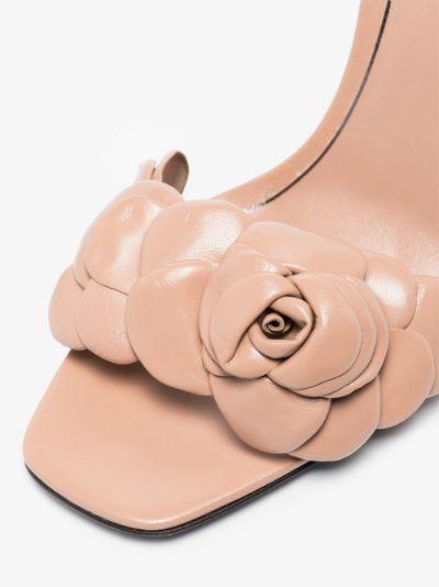 neutral Petal 100 leather sandals