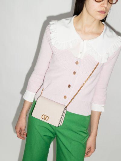 Neutral VLOGO Leather Shoulder Bag
