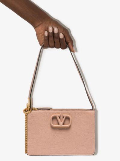 neutral VSLING Leather Mini Bag