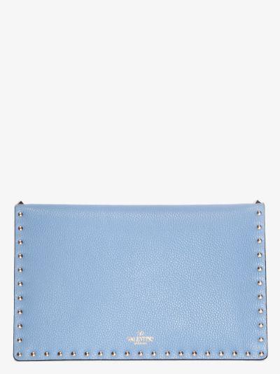 Niagara blue Rockstud large envelope pouch bag
