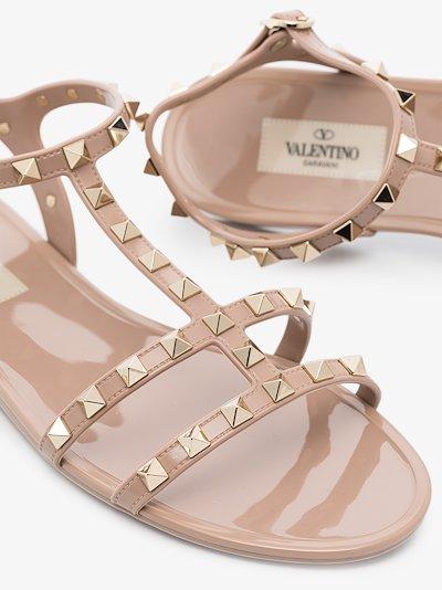 pink rockstud flat sandals