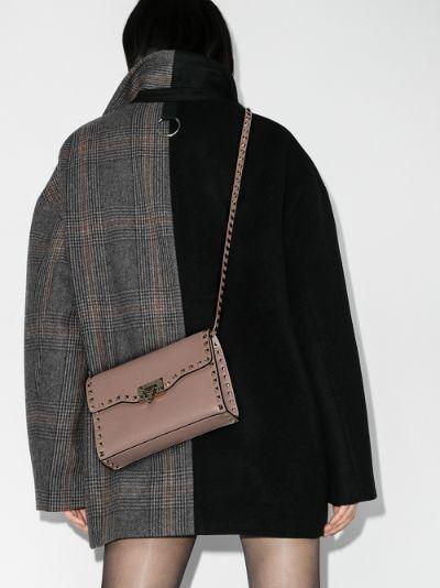 pink Rockstud leather shoulder bag