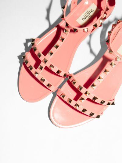 pink Rockstud rubber sandals