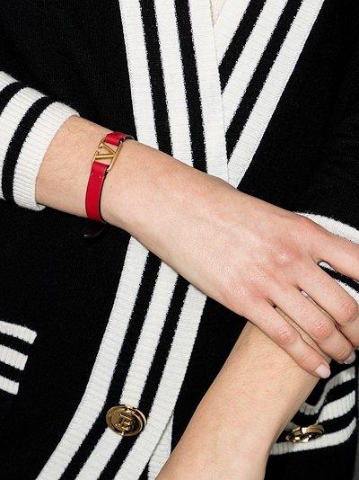 red VLOGO Signature leather bracelet