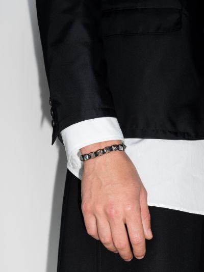 silver tone Rockstud bracelet