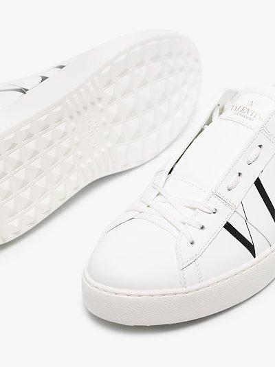 white and black Garavani VLTN leather open sneakers