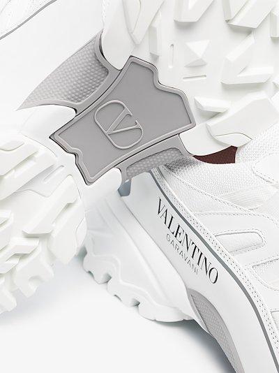 white climbers sneakers