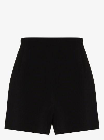 high waist crêpe shorts