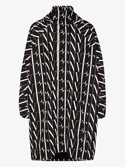 Hooded logo print jacket