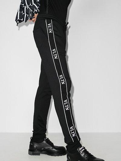 logo tape cotton sweatpants