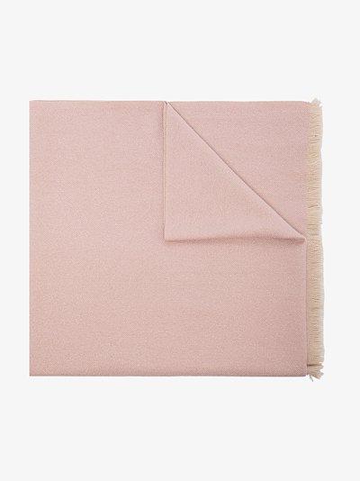 pink VLOGO signature cashmere shawl