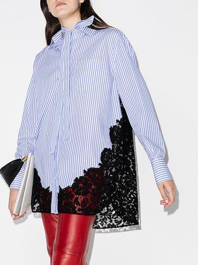 pinstripe lace poplin shirt