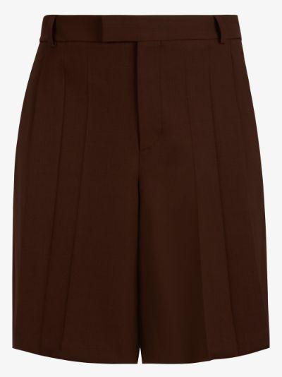pleated Bermuda shorts
