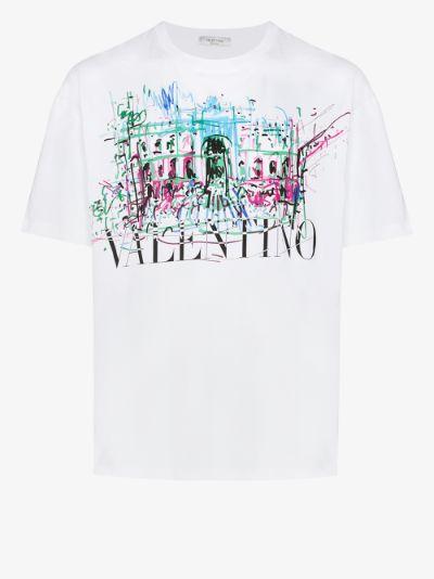 Roman sketch logo print T-shirt