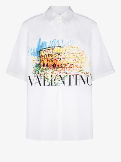 Roman sketch print shirt