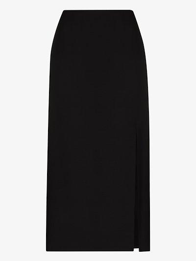 side split midi skirt
