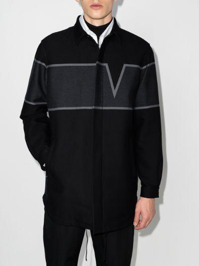 V-Valentino intarsia shirt jacket
