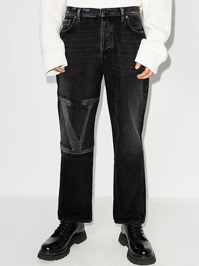 VLOGO cropped jeans