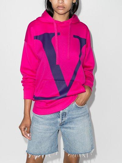 VLOGO print oversized hoodie