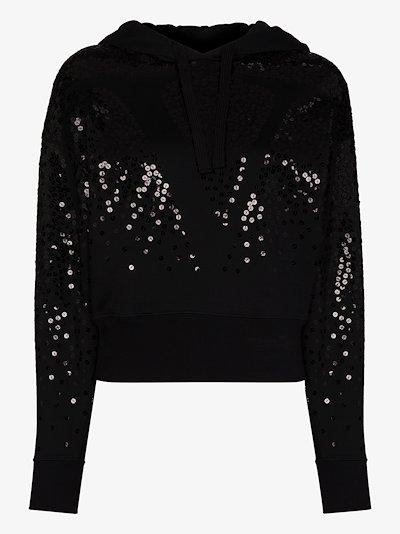 VLOGO sequinned hoodie