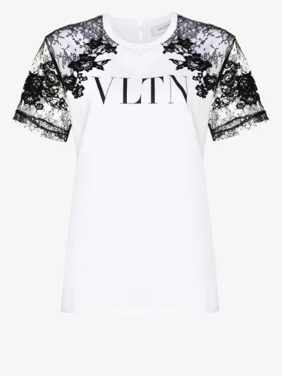 VLTN lace detail T-shirt