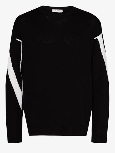 VLTN logo cashmere sweater