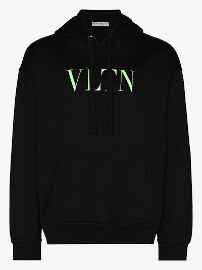 VLTN logo cotton hoodie
