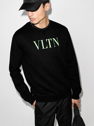 VLTN logo cotton sweatshirt