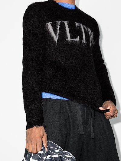 VLTN Logo fluffy sweater
