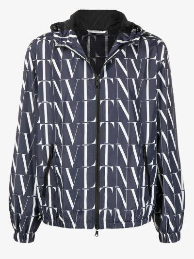 VLTN logo hooded jacket