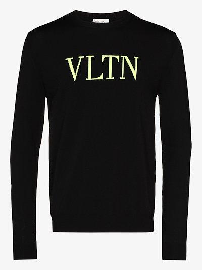 VLTN logo knit sweater