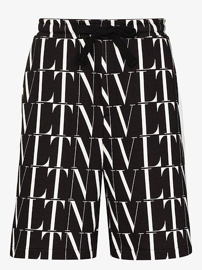 VLTN Logo Print Bermuda shorts