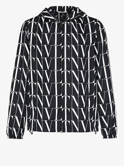 VLTN logo print hooded jacket