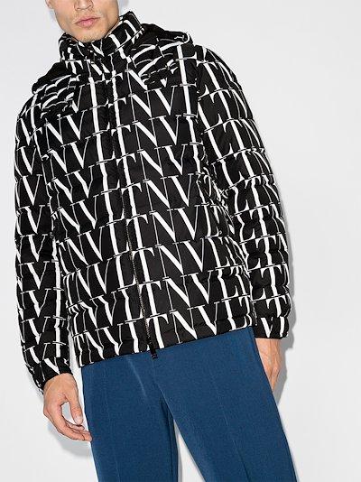 VLTN logo print padded jacket