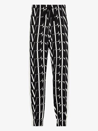 VLTN logo print track pants
